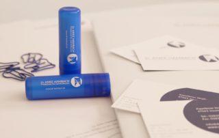 Dr.Anke-Hambach, Lippenpflegestift, Corporate Design, blau, Zahnarztpraxis, Printgestaltung, Geschäftsdrucksachen, Privatpraxis für Zahnheilkunde